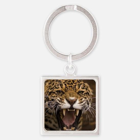 Growling Jaguar Keychains