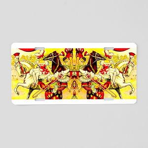 Circus Clown Lady Horses Vi Aluminum License Plate