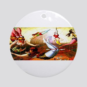 Trapeze Girls Ornament (Round)