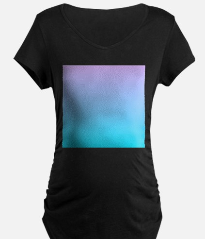 purple turquoise ombre Maternity T-Shirt