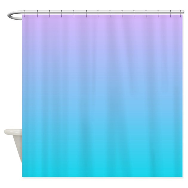 purple turquoise ombre Shower Curtain by ADMIN_CP62325139