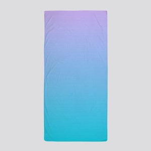 purple turquoise ombre Beach Towel
