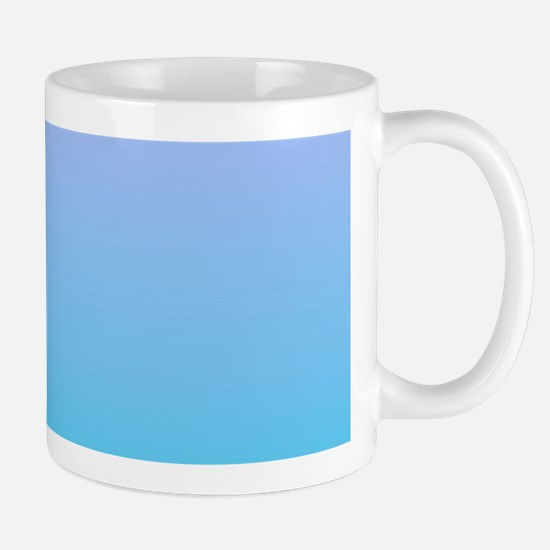purple turquoise ombre Mugs