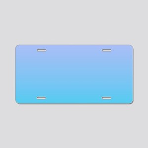 purple turquoise ombre Aluminum License Plate