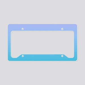 purple turquoise ombre License Plate Holder