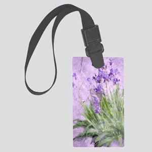 Purple Irises Large Luggage Tag