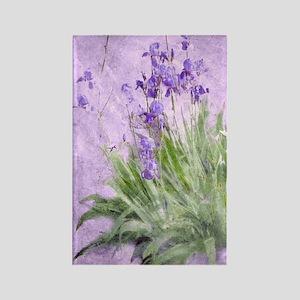 Purple Irises Rectangle Magnet