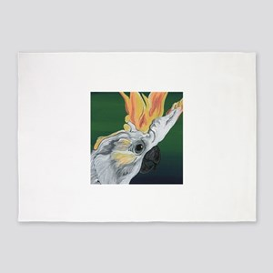 Cockatoo Parrot 5'x7'Area Rug