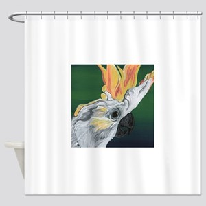 Cockatoo Parrot Shower Curtain
