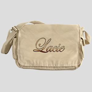 Gold Lacie Messenger Bag