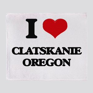 I love Clatskanie Oregon Throw Blanket