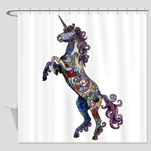Wild Unicorn Shower Curtain