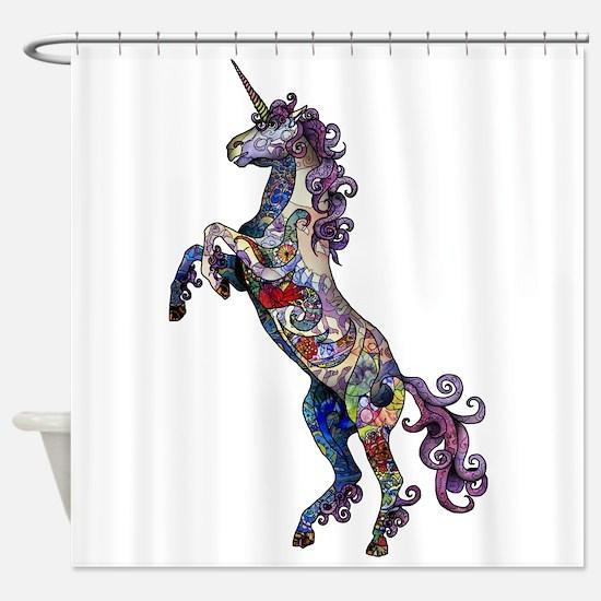 Wild Unicorn Shower Curtain