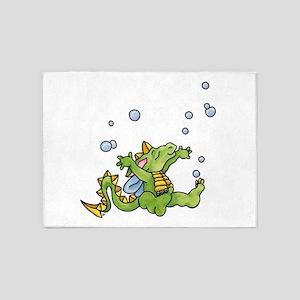Dragon Bubbles 5'x7'Area Rug