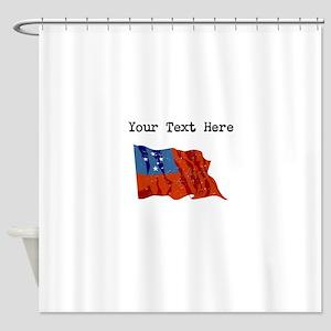 Western Samoa Flag Shower Curtain