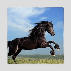 Black Horse Running Queen Duvet