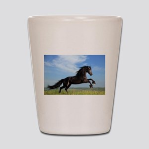 Black Horse Running Shot Glass