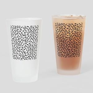 Dachshunds Drinking Glass
