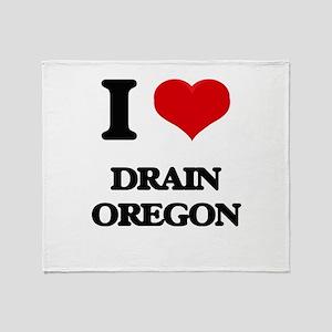 I love Drain Oregon Throw Blanket