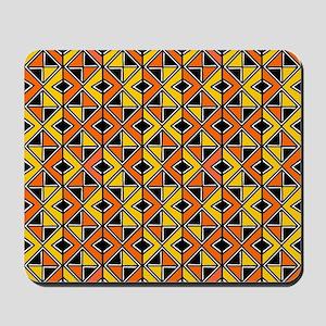 Mud Cloth Style 100215 - Amber and Orang Mousepad
