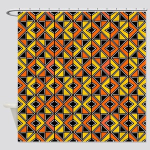 Mud Cloth Style 100215 - Amber and Shower Curtain