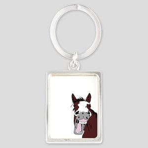 Cartoon Horse Laughing Funny Equestrian Art Keycha