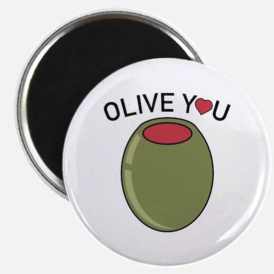 """Olive You 2.25"""" Magnet (100 pack)"""