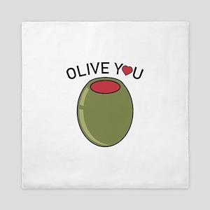 Olive You Queen Duvet
