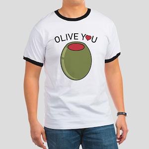 Olive You Ringer T