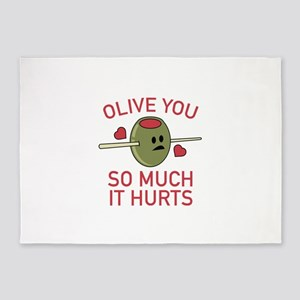 Olive You So Much It Hurts 5'x7'Area Rug
