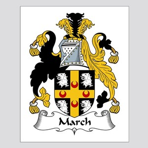 March Family Crest Small Poster