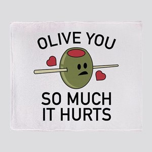Olive You So Much It Hurts Stadium Blanket