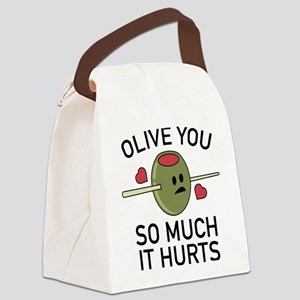 Olive You So Much It Hurts Canvas Lunch Bag