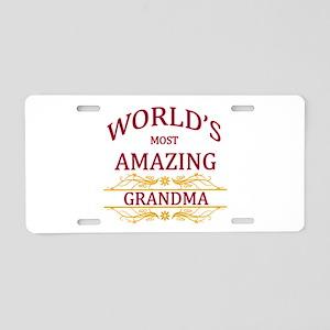 Grandma Aluminum License Plate