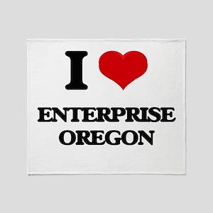 I love Enterprise Oregon Throw Blanket
