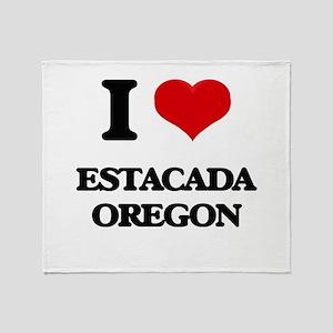 I love Estacada Oregon Throw Blanket