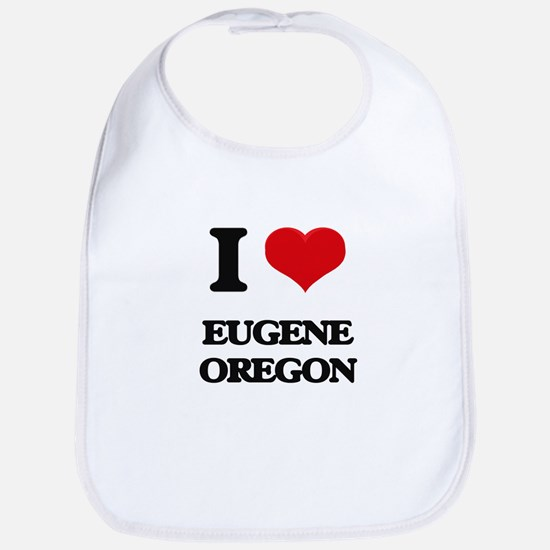 I love Eugene Oregon Bib