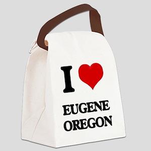 I love Eugene Oregon Canvas Lunch Bag