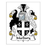 Marbury Family Crest Small Poster