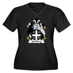 Marbury Family Crest Women's Plus Size V-Neck Dark