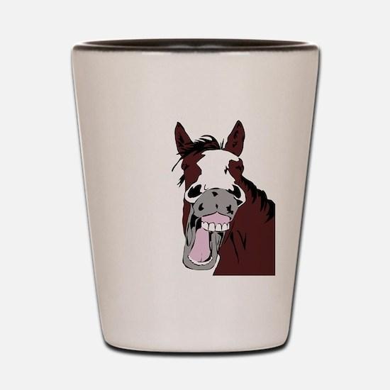 Cartoon Horse Laughing Funny Equestrian Art Shot G