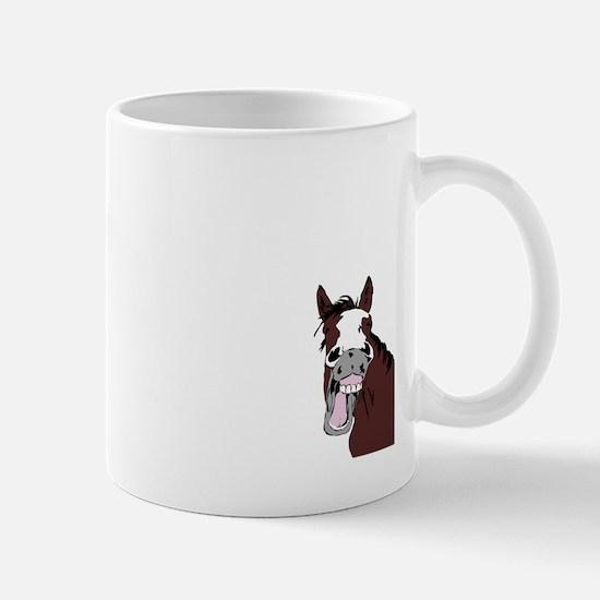 Cartoon Horse Laughing Funny Equestrian Art Mugs