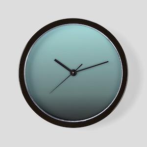 teal seafoam ombre Wall Clock