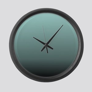 teal seafoam ombre Large Wall Clock