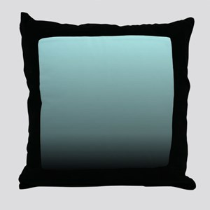 teal seafoam ombre Throw Pillow