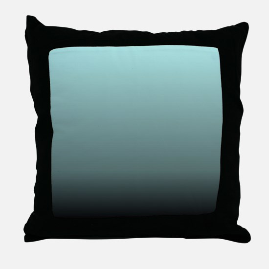 teal seafoam ombre Throw Pillow