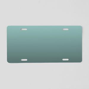 teal seafoam ombre Aluminum License Plate