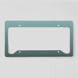 teal seafoam ombre License Plate Holder