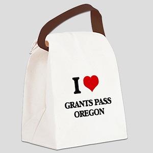 I love Grants Pass Oregon Canvas Lunch Bag