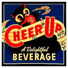 Owl Vintage Label Poster